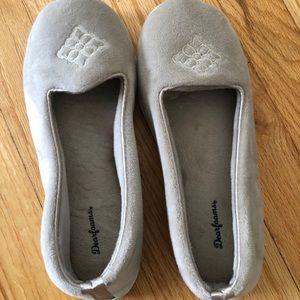 Dearfoams Slippers, Gray, retro! Like new